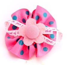 Womens Polka Dot Floral Flower Poppy Hair Clip accessories