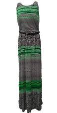 Cristina B Belted Jersey Green Maxi Dress