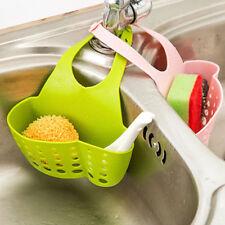 Home Kitchen Bathroom Sink Sponge Hanging PVC Shelving Rack Drain Faucet Storage