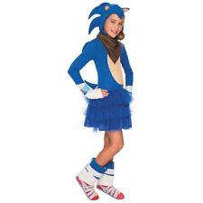 Sonic The Hedgehog Costume Girls Kids Halloween Fancy Dress