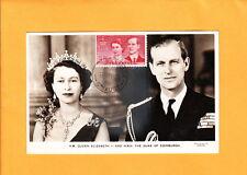 Australia Rppc Real Photo Pc Elizabeth Ii Philip Maximum Card 1954 Renmark y7
