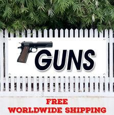 Guns Advertising Vinyl Banner Flag Sign Gun Rifle Pistol Firearms Buy Sell Ammo
