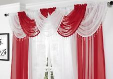BEADED swags E VOILE PANEL SET Bianco & Rosso, lotti di colori disponibili
