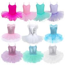 Mädchen Kinder Tutu Rock Ballettkleid Ballettanzug Body Turnanzug Gymnastikanzug