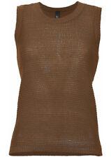 B. C. Mujer Suéter De Punto Chaleco De Punto Top Sin Mangas Jersey marrón 059212