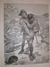 A Good Samaritan Under Fire Stanley L Wood 1900 Boer War Print Willow Grange