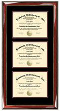 Triple Diploma Frame Certificate University College Document Degree University