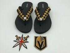 Vegas Golden Knights Hockey inspired Custom Flip Flops - Black Old Navy