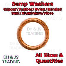Sump Washers Copper Rubber Nylon Bonded Seals Aluminium Fibre Sealing Oil Sump