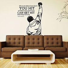 XXL Rocky Balboa get hit Motivation Sport Film Wandtattoo 115cmx151cm Aufkleber