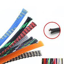 Ø6mm Expandable Braided Dense PET Sleeve Cable Hose Audio Diy - Various Color