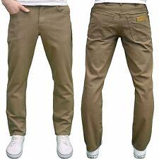 Wrangler TEXAS Men's Designer Branded Stretch Regular Fit Tan Chino Jeans, BNWT