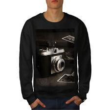 Old Photo Camera Men Sweatshirt NEW | Wellcoda