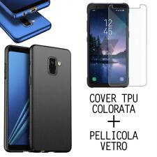COVER CUSTODIA TPU COLORATA PER SAMSUNG A5 / A6 / A8 2018 - PLUS + VETRO