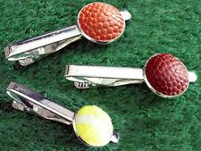 Handmade Basketball, Football, Tennis Ball Tie Bar, Tiebar, Tie Clip,Tie Tack)