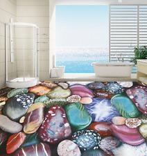 3D Color Smooth Stones Floor WallPaper Murals Wall Print Decal 5D AJ WALLPAPER