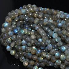 "Natural Labradorite Gemstone Round Beads 16"" 4MM 5MM 6MM 7MM 8MM 10MM"