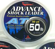 "EUPRO ""AT"" SALTWATER LEADER LINE 15lb - 80lb - 50 YARD SPOOL - CLEAR"