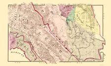 Old County Map - Sonoma, South California Landowner - Thompson 1877 - 23 x 38.63