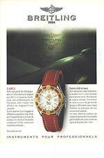 PUBLICITE  1997   BREITLING la montre chronographe LADY J