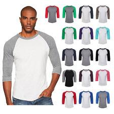 New Next Level Premium 3/4 Sleeve Raglan Baseball Tee Tri-Blend Plain T-Shirt
