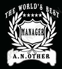 Mánager Camiseta Personalizado Añadir Nombre A ELEGIR REGALO IDEAL Supervisor