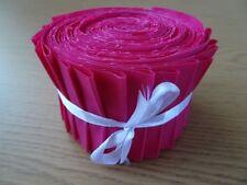 10 o 25 Jelly Roll Tiras 100% ALGODÓN PATCHWORK TEJIDO ~ Cerise PINK Llano