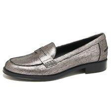9190N mocassino TOD'S GOMMA RU grigio argento scarpe donna loafer women