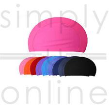 Easy Fit Adult Swimming Hat Cap Swim Mens Womens Unisex Nylon Spandex Fabric