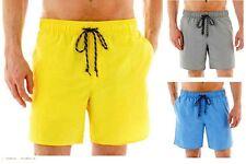 New Men's St. John's Bay Water Shorts Plain Swimsuit Trunks Sizes M L XL & XXL