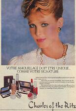 PUBLICITE ADVERTISING  1981   CHARLES OF THE RITZ  cosmétiques cremes de beauté