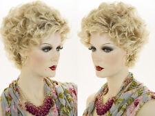 Short Blonde Brunette Wavy Curly Wigs