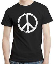 Peace love hippie hippy logo rétro cadeau copain vêtements t shirt t-shirt tee
