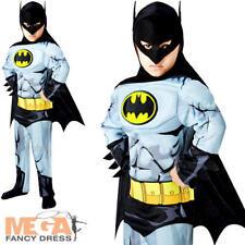 Deluxe Batman Boys Fancy Dress Superhero Comic Book Kids Childrens Costume New