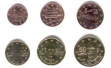 Greece 2006 - Maxi Set of 6 Euro Coins (UNC) **RARE**