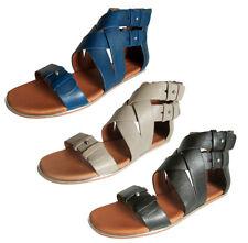 Gentle Souls Womens Blessie Gladiator Sandal Flat Shoe
