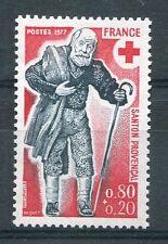 FRANCE 1977 timbre 1959, CROIX ROUGE, SANTONS, CHEMINEAU, neuf**