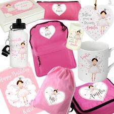 FAIRY PRINCESS GIFTS. Personalised Gift For GIRLS Birthday Card Pink Bag Mug Box