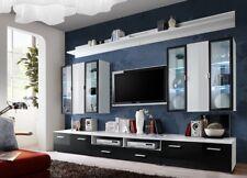 Wohnwand Anbauwand Schrankwand Fernseherschrank TV Board Helios Hochglanz Set21