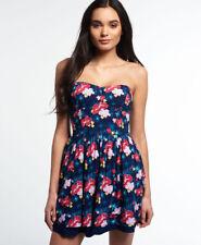New Womens Superdry 50s Tropical Print Dress Hawaiian Tropics Nav