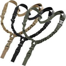 Adjustable One Single Point Sling Bungee Gun Rifle Rope Strap Black Khaki Green