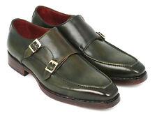 Paul Parkman Para hombres Zapatos Goodyear Welted Doble monkstrap Verde (ID#061 - Verde)