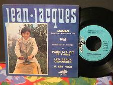 JEAN JACQUES Maman Eurovision 1969 MONACO EP 1263 Pressage Portugal