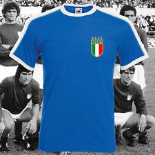 ITALIA Retro CALCIO ROYAL ITALIA sostenitore FAN VINTAGE Coppa del Mondo T-Shirt S-XL