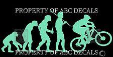 VRS EVOLUTION CYCLING MOUNTAIN BIKE GUY VINYL CAR DECAL WALL STICKER