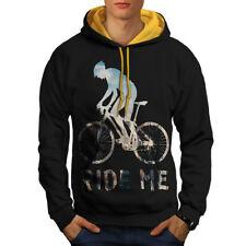 Ride me Bike Sport Biker Men Contrast Hoodie NEW | Wellcoda