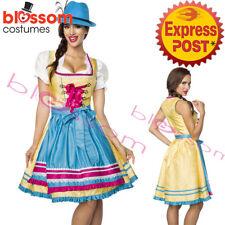 K414 Deluxe Oktoberfest Beer Maid Dress Up Heidi Costume Bavarian German Dirndl