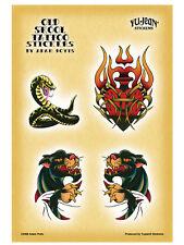 Set 4 Customize Biker Old Skool Tattoo Tribal Snake Panther Sticker Car Decal