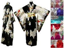 Halloween, Resort.  Pretty lady prints Kimono with Obi, Plus size also available