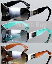0f8c9282a58fc New DG Eyewear Womens Mens Shield Designer Fashion Sunglasses Wrap Around  Retro